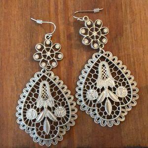 Jewelry - Large Silver Dangle Earrings